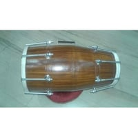 Durable Brown Wooden Dholak