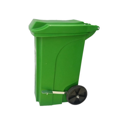 Plastic Pedal Dustbin With Wheel 90 Ltr