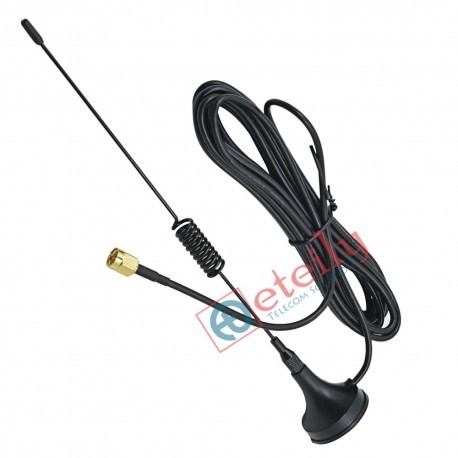 5dBi Wifi Spring magnetic Antenna Rg174 with 3 Meter