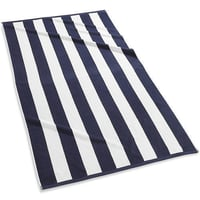 Blue and White Terry Beach Towel