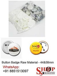 Button Badge Raw Material Blank