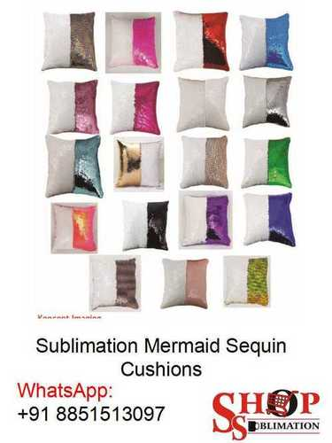 Sublimation Mermaid Sequin Cushion Pillow