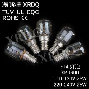 E14 25w Incandescent Bulbs Oven Lamp T300 Rohs Ce 110-130v 220-240v Custom