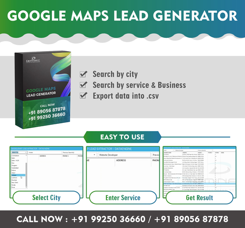Online Lead Extractor Software (Google Map) in Nanpura
