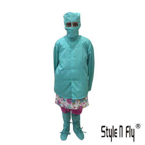 Apron Female With Shoes Cover, Female Cap And Mask