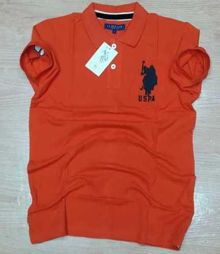 Red Branded Half Sleeves Polo T shirts