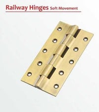 Pure Brass Railway Hinges