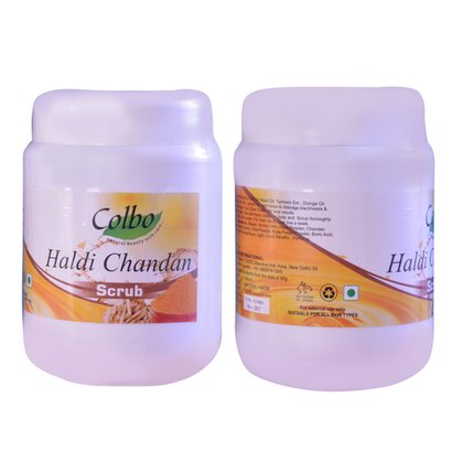 Uv Blocking Herbal Haldi Chandan Scrub