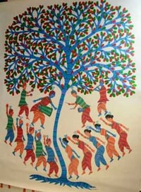 Gond Pradhan Canvas Painting