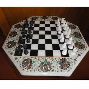 Chess Board With Inlay Art