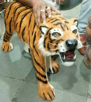 Home Decorative Leather Tiger Toys