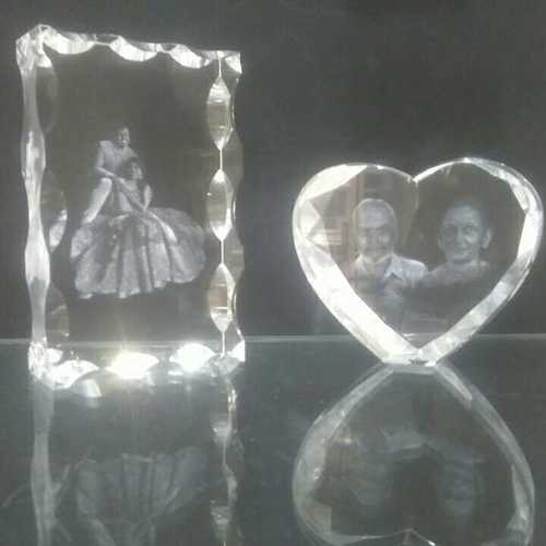 Personalised 3d Crystal Momento