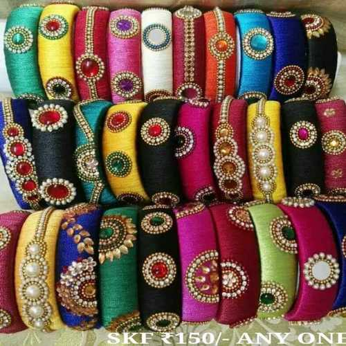 Designer Silk Thread Kada
