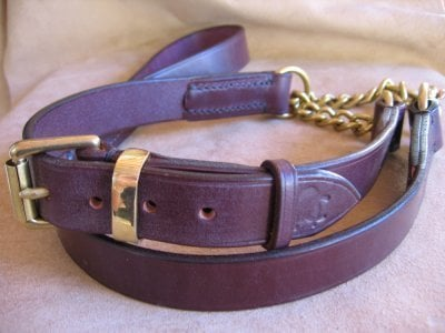 Half Chocked Leather Collar