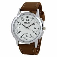 Corporate Leather Strap Wrist Watch