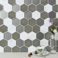 Commercial Hexagonal Glass Tiles