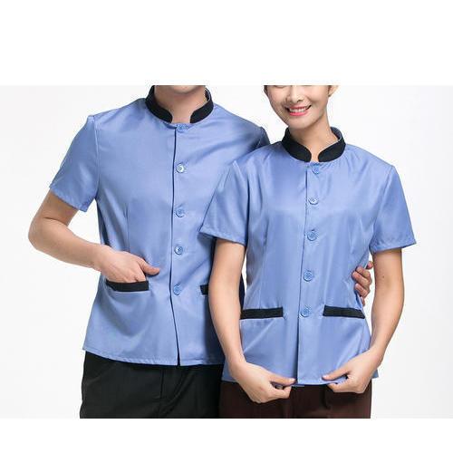 Half Sleeves Plain Housekeeping Uniform