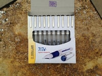 Dollar Transparent Fountain Pen \\342\\200\\223 Premium Quality (Pack of 10 Assorted Body Color)