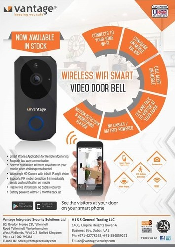 Wireless Wi-Fi Smart Video Door Bell
