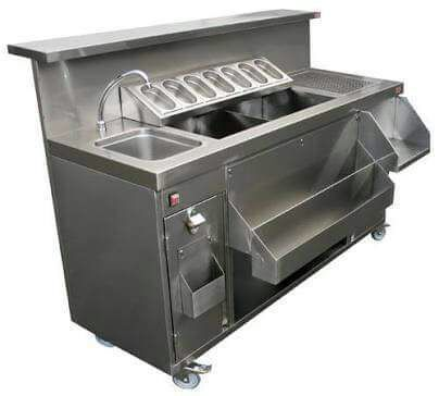 Stainless Steel Cocktail Station