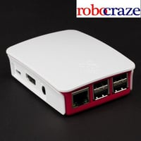 Official Raspberry Pi B /2/3 Red and White Case