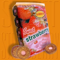Sweet Strawberry Cream Biscuits