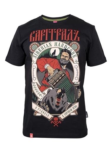 """Varggrad T-Shirt Men's """"Siberian Hardcore"""" """"Severe Land"""" Black"""
