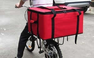 Red Color Pizza Delivery Bag