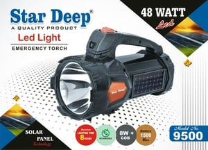 Rechargeable Torch With Solar Charging Support