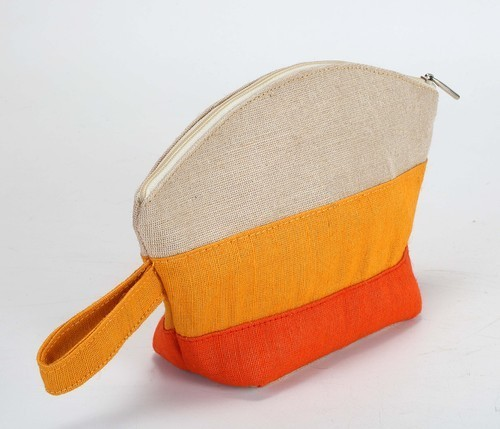 Juco And Dyed Jute Jewelry Pouch