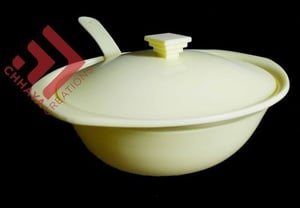 Plastic Off White Serving Donga