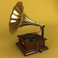 Wooden And Brass Dummy Gramophone