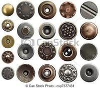 Alloy, Brass And Steel Jeans Buttons