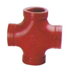 Red Grooved Reducing Cross