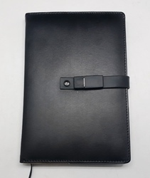 Durable Black Diary With Pen Drive