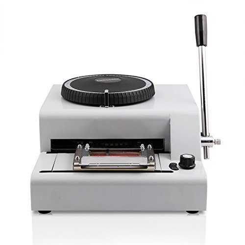 White Pvc Card Embossing Machine