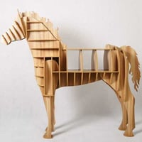 Antique Horse Shaped Wooden Table