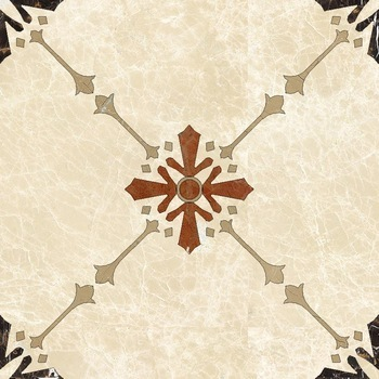 Modern Simple Home Water Jet Marble Flower Pattern Floor Designs