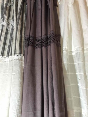 Embroidered Linen Curtains