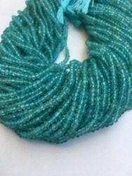 2 Strands Beautiful Natural Sky Apatite 3mm Rondelle Beads