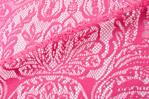 Flocked Lace Fabric