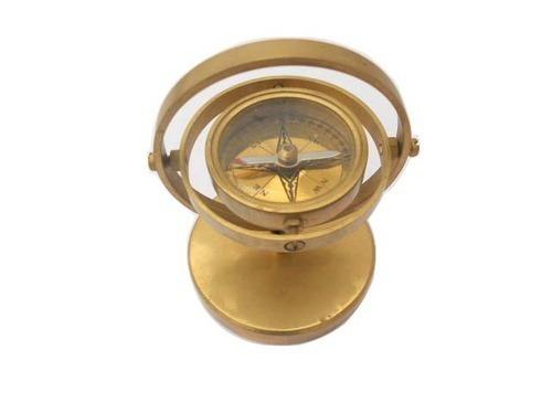 Standing Brass Compass