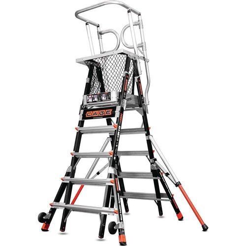 Safety Cage Ladder