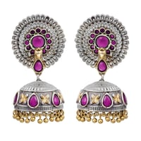 Traditional Antique Dual Tone Brass Jhumka