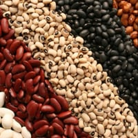 White, Red, Black And Light Speckled Kidney Beans