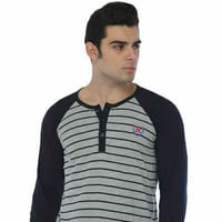 Mens Cotton Stripped Full Sleeve T-Shirts