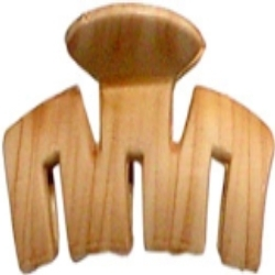 Wooden Wood Color Hair Clips
