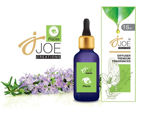 Joe Creations Diffuser Aroma Oil (15 Ml) For Zodiac Sign Pisces With Night Light Aroma Diffuser