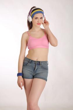 Pink Color Sports Bra