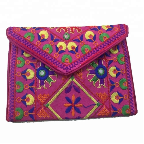 Embroidery Wedding Collection Rajasthani Jaipuri Clutch Coin Bag